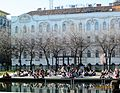 Dwelling building and K & H Bank. - 24., József Attila St., Budapest District V. - Springtime in 2012 Hungary.jpg