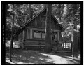 EAST FRONT - Paulina Lake IOOF Organization Camp, Cabin No. 7, Deschutes National Forest, La Pine, Deschutes County, OR HABS ORE,9-LAPI.V,1D-1.tif