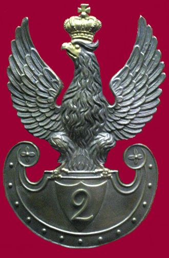 Congress Poland - Eagle of an officer in the Army of Congress Poland.