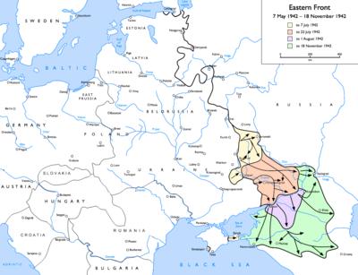 Operation Blau : Avancées allemandes du 7 mai 1942 au 18/novembre/1942.
