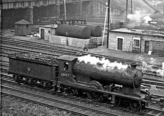 NBR K Class - 62477 Glen Dochart on Eastfield Locomotive Depot, Glasgow, September 1957