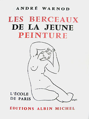 School of Paris - André Warnod, Les Berceaux de la jeune peinture (1925). Cover illustration by Amedeo Modigliani