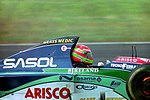 Eddie Irvine - Jordan 194 at the 1994 British Grand Prix (31697688754).jpg
