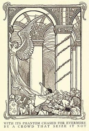 "The Conqueror Worm - Illustration for ""The Conqueror Worm"", 1900"