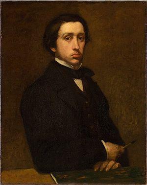 Edgar Degas - Self-portrait (Degas au porte-fusain), 1855