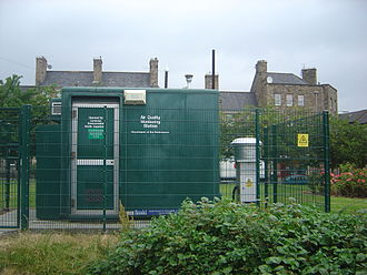 Air quality index - An air quality measurement station in Edinburgh, Scotland