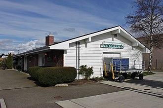 Edmonds station (Washington) - South side of the Edmonds station building, built to handle freight shipments