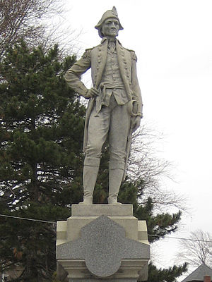 Painesville, Ohio - Statue of General Edward Paine in Painesville, Ohio