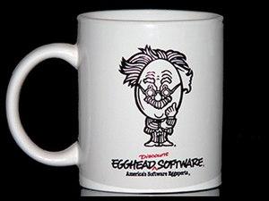 Egghead Software - Employee coffee cup, circa 1988