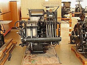 """Heidelberger Druckmaschinen - Heidelberg """"Windmill"""" platen press, 1950s vintage"""