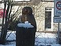 Eine Eulenskulptur in Tarp im Winter, 2015, Bild 02.jpg