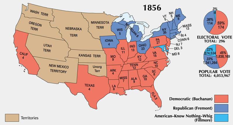 an introduction to the history of the presidential election of 1856 Explanation of electoral politics electoral politics | article about the disputes over the counting of the votes in florida in the 2000 presidential election clearly revealed that some machine voting systems are more a history of presidential elections (3d ed 1970) h a.