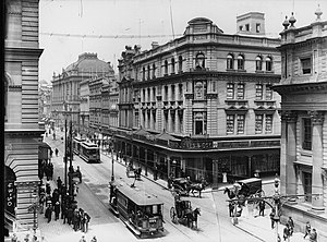 David Jones Limited - 'David Jones and Coy' store, corner of George Street and Barrack Lane, circa 1900.