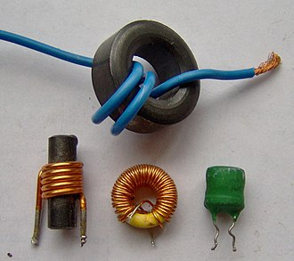 Inductor - Image: Electronic component inductors