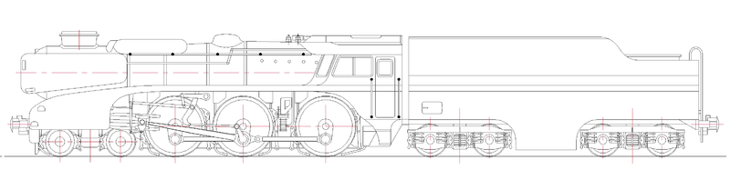5AT Locomotive Outline