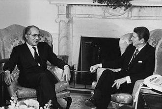 Emilio Colombo - Emilio Colombo with Ronald Reagan.