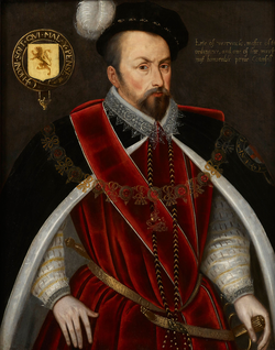 English School Ambrose Dudley, Earl of Warwick in Garter Robes.png