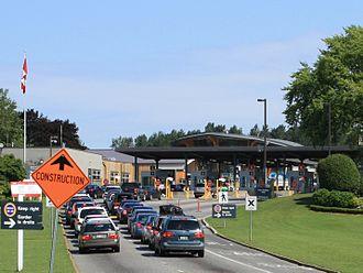 Peace Arch Border Crossing - The Canada Border Inspection Station at the Peace Arch Border Crossing