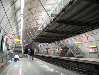 Mezzanine - The mezzanine of Basarrate station in Bilbao Metro