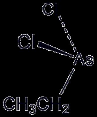 Ethyldichloroarsine - Image: Et As Cl 2