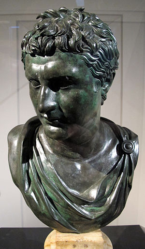 Macedonia (ancient kingdom) - Bronze bust of Eumenes II of Pergamon, a Roman copy of a Hellenistic Greek original, from the Villa of the Papyri in Herculaneum