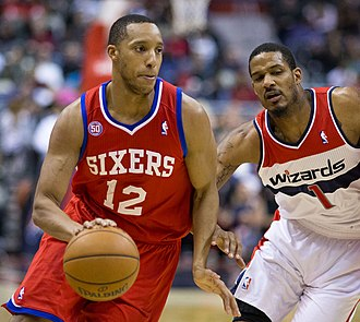 Evan Turner - Turner (left) with the 76ers in March 2013