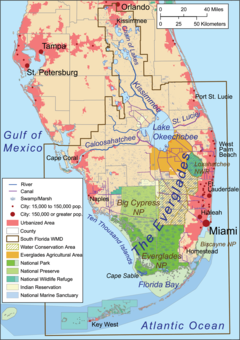 Florida Everglades Map.Everglades Wikipedia