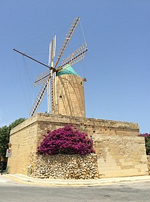 Exterior of Ta' Kola Windmill 01.jpg
