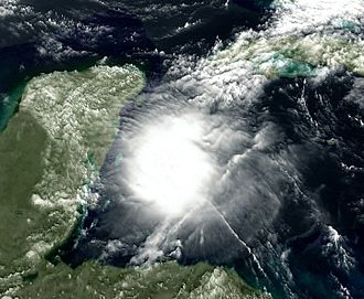 Tropical Storm Agatha - The remnants of Agatha in the western Caribbean Sea on June 1