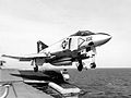 F-4J of VF-33 is launched from HMS Ark Royal (R09) 1975.jpg