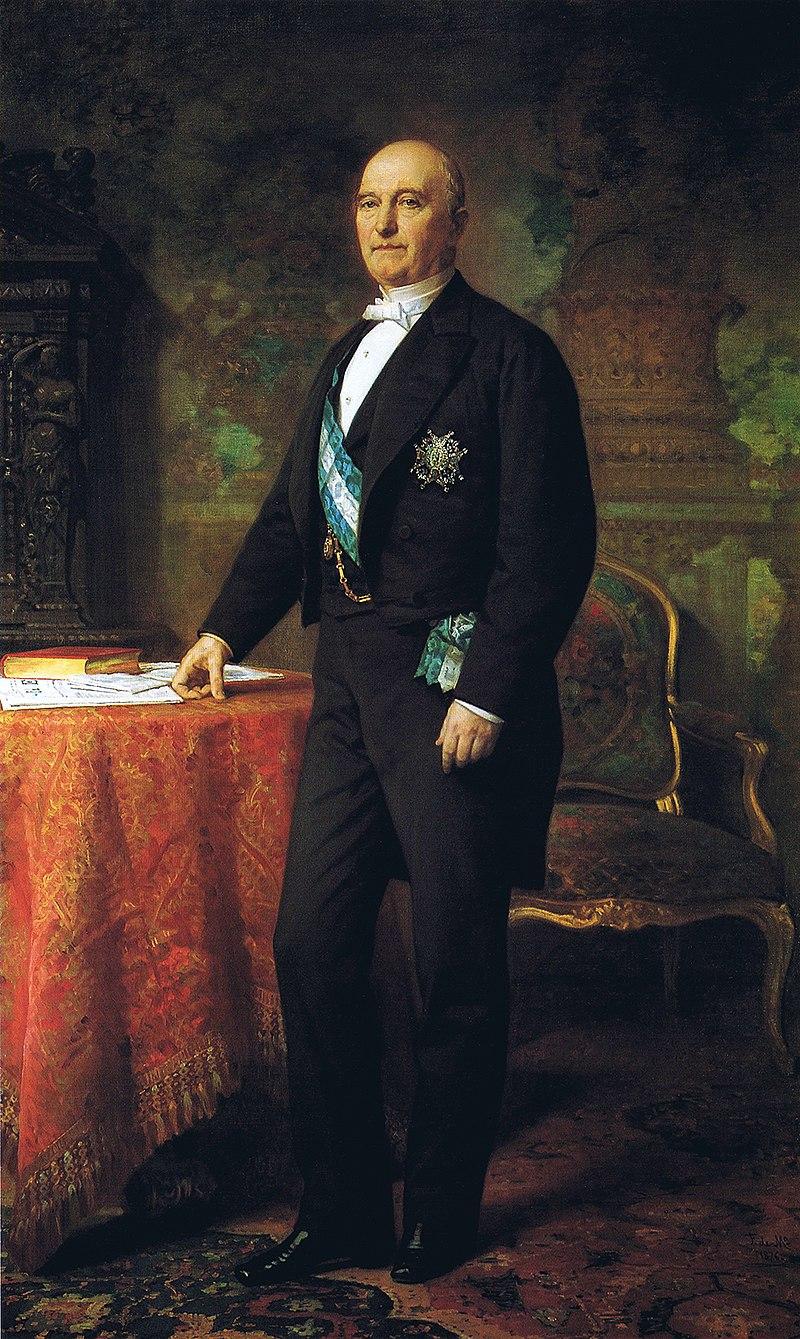 Ф. де Мадрасо - 1876 г., Хуан Мануэль Мансанедо Гонсалес, I Маркиз де Мансанедо и я Герцог Сантонский (Камара Коммерсии и Индустрия Мадрида, 200 х 125 см)