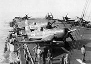 F4U-4B VMF-214 CVE-118 1950