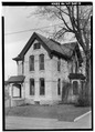 FRONT AND EAST SIDE, PERSPECTIVE VIEW - John Marx House, 108 Main Street, Menasha, Winnebago County, WI HABS WIS,70-MENA,1-3.tif