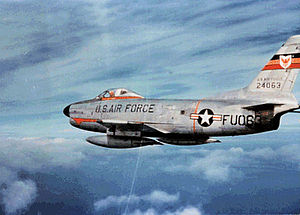 406th Air Expeditionary Wing - North American F-86D-45-NA Sabre Serial 52-4063 of the 513th Fighter Interceptor Squadron