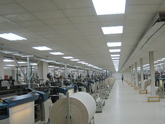 Economy of Bangladesh - A Bangladeshi textile fabric plant