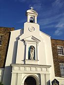 Facade of St. Mary's Church, Hampstead, London