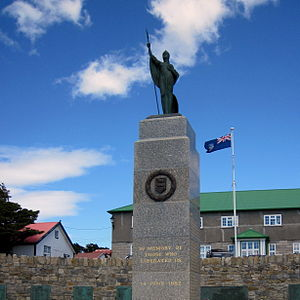 Stanley, Falkland Islands - The Falklands War Memorial, Stanley
