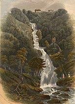 Falls at the Devil's Bridge, near Aberystwyth