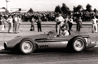 Maserati - Juan-Manuel Fangio driving a Maserati 250F.