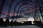 Farnborough Portable Airship Hangar at Sunset.jpg