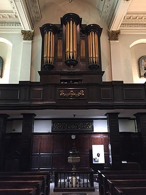 St Martin, Ludgate - The organ of St Martin, Ludgate