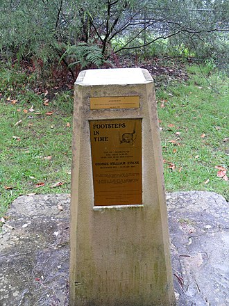 George Evans (explorer) - Image: Faulconbridge marker