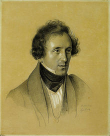 Felix Mendelssohn by Friedrich Wilhelm Schadow, 1834 (Source: Wikimedia)