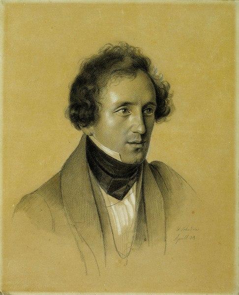 Felix Mendelssohn Bartholdy - Friedrich Wilhelm von Schadow 1834