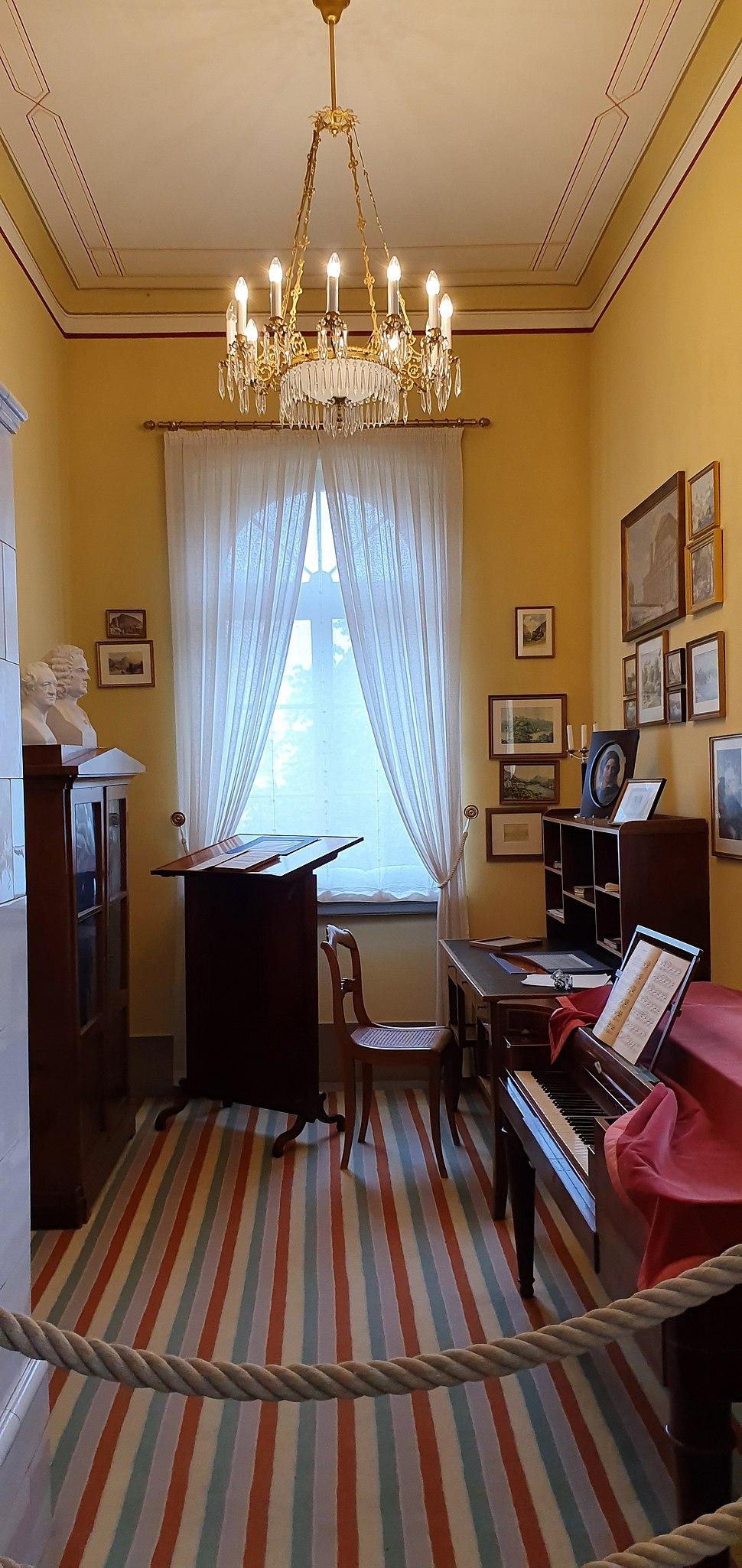 Felix Mendelssohn Leipzig study-Contemporary view
