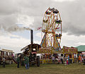 """Ferris Wheel and the Showmans Road Loco """"The Lion"""", Gloucestershire Steam & Vintage Extravaganza 2013.jpg"""