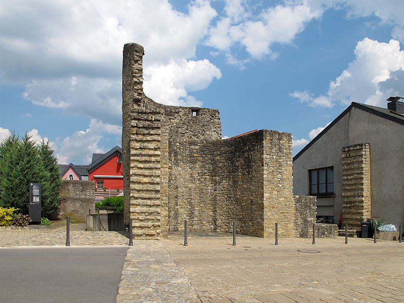 Tower of the fortification wall of Grevenmacher,  rue des Remparts