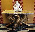 Filippo parodi, base per tavolo con aquila e croce di s. andrea, 1690 ca. 01 putto di taddeo e giuseppe carlone, dalla fontana del nettuno, 1599.JPG