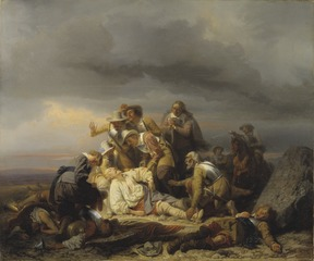 Finding the Body of King Gustav II Adolf of Sweden after the Battle of Lütze