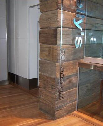 Timber recycling - Example of recycled timber as a final product